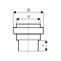 KGUS přechodka kamenina/PVC DN 160 / Profistavba