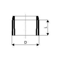 KGUSM přechodka PVC/kamenina DN 125 / Profistavba